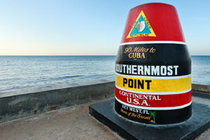 Marker for the Southernmost Point of the Continental U.S.